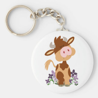 Cute Chewing Cartoon Cow Keychain