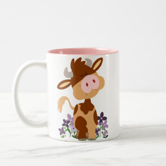 Cute Chewing Cartoon Cow Mug