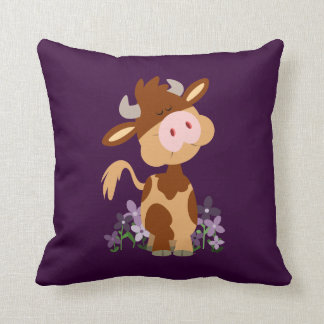 Cute Chewing Cartoon Cow Pillow