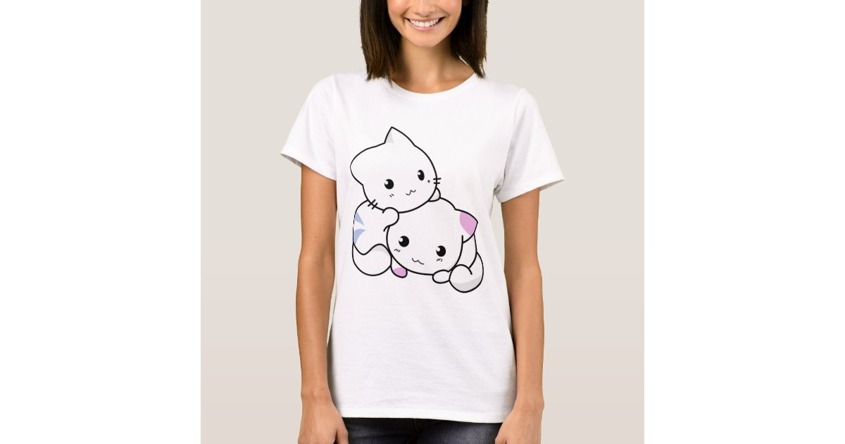 Cute Chibi Anime Kittens Shirt Zazzle Com
