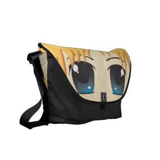 Cute Chibi Blue Eyes Messenger Bag