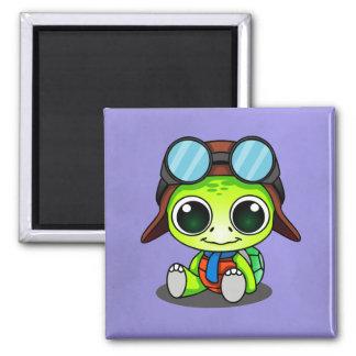 Cute Chibi Cartoon Turtle Magnet