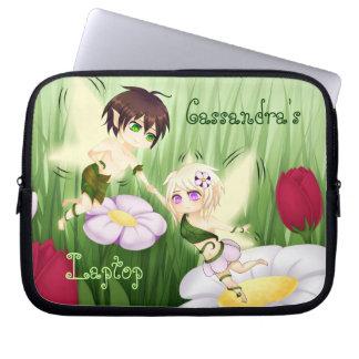 Cute Chibi Fairy Boy and girl Laptop Sleeve