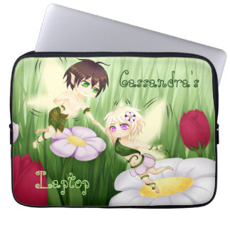 Cute Chibi Fairy Boy and girl medium Laptop Computer Sleeves