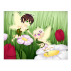 Cute Chibi Fairy Boy and girl Postcard