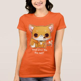 Cute chibi fox with kawaii icecream T-Shirt
