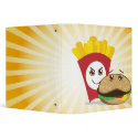 cute chibi fries and hamburger notebook binder