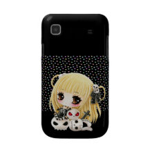 Cute chibi girl and kawaii skulls casematecase