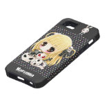 Cute chibi girl and kawaii skulls iPhone SE/5/5s case