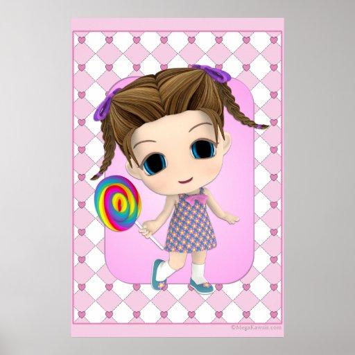 Cute Chibi Girl Poster