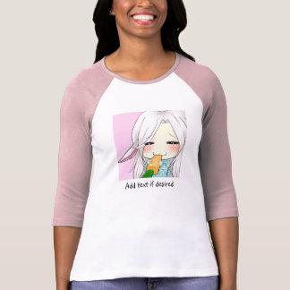Cute chibi girl with bunny ears women's t shirt