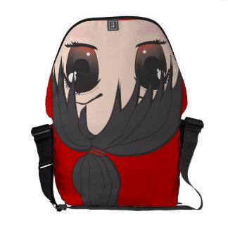 Cute Chibi Goth Girl Commuter Bags