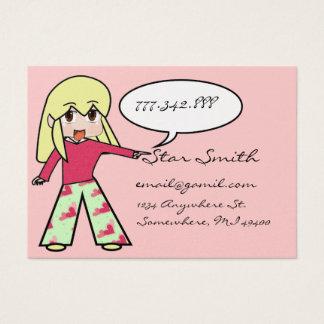 Cute Chibi Heart - Yellow Hair - Business Card