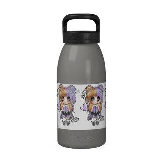 Cute Chibi Rocker Reusable Water Bottles