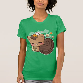 Cute chibi squirrel with kawaii chestnut T-Shirt