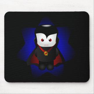 Cute Chibi Vampire - Dark Backgrounds Mouse Pad