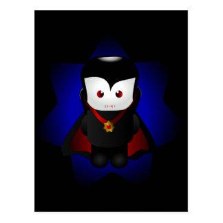Cute Chibi Vampire - Dark Backgrounds Postcard