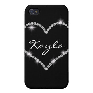 CUTE Chic Bling Heart Diamond I 4s iPhone 4/4S Case