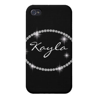 Cute Chic Bling Oval Sparkle I 4s iPhone 4 Cover