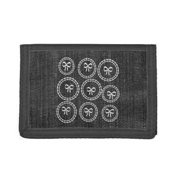 dreamywave Cute Chic Bows Denim Wallet