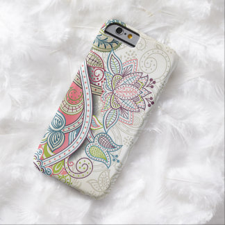 Cute Chic Classic Ornate Vintage Floral Pattern Barely There iPhone 6 Case