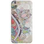 Cute Chic Classic Ornate Vintage Floral Pattern Barely There iPhone 6 Plus Case