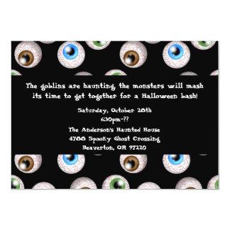 Cute Chic Creep Eyeballs Halloween Party Invite