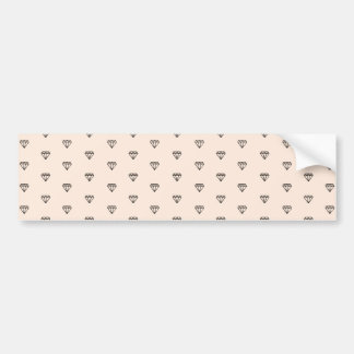 Cute Chic Diamond Pink Pattern Bumper Sticker