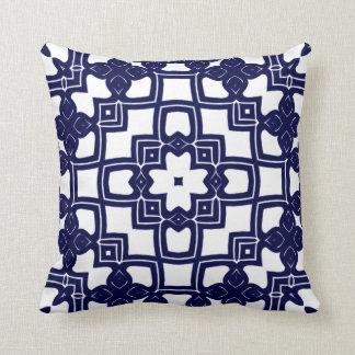 Cute Chic Pretty Dutch Delfts Blue Squares Pattern Throw Pillows