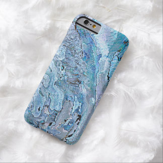 Cute Chic Purple Blue Faux Abalone Shell Pattern Barely There iPhone 6 Case