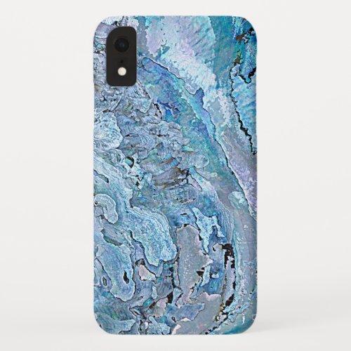Cute Chic Purple Blue Faux Abalone Shell Pattern Phone Case