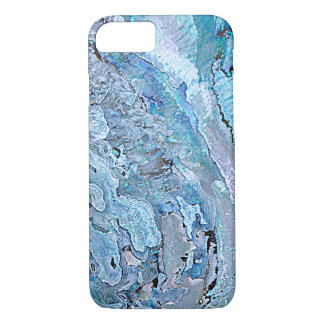 Cute Chic Purple Blue Faux Abalone Shell Pattern iPhone 7 Case