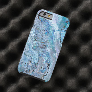 Cute Chic Purple Blue Faux Abalone Shell Pattern Tough iPhone 6 Case