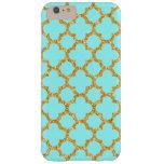 Cute Chic Retro Mosaic Trellis Quatrefoil Pattern Barely There iPhone 6 Plus Case