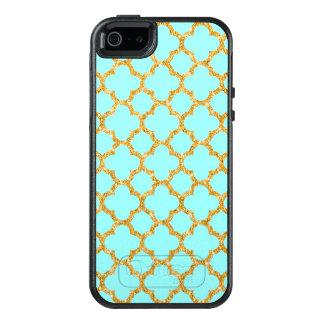 Cute Chic Retro Mosaic Trellis Quatrefoil Pattern OtterBox iPhone 5/5s/SE Case