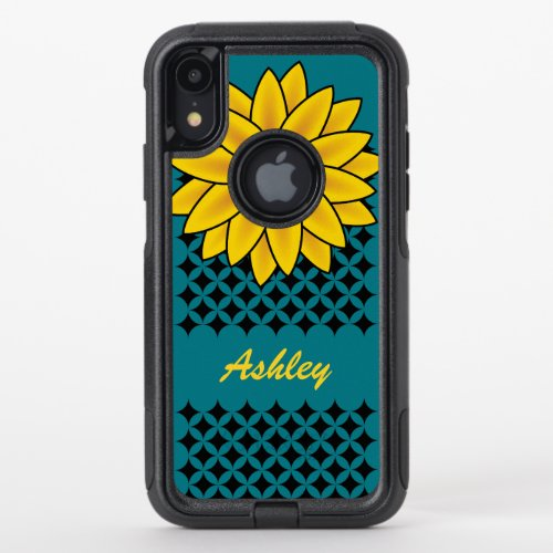 Cute Chic Yellow Sunflower Girly Name Phone Case