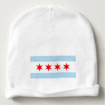 Cute Chicago Flag Baby Beanie