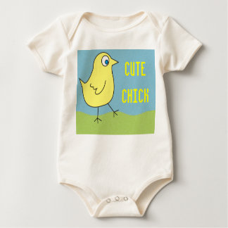 Cute Chick Baby Creepers Bodysuit