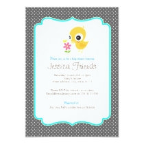 Cute chick boy baby shower invitation
