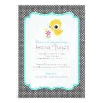 Cute chick boy baby shower invitation