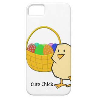 Cute Chick Chicken with Easter Basket of Eggs iPhone SE/5/5s Case