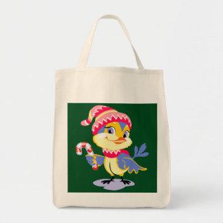 Cute Chick Christmas Tote Bag