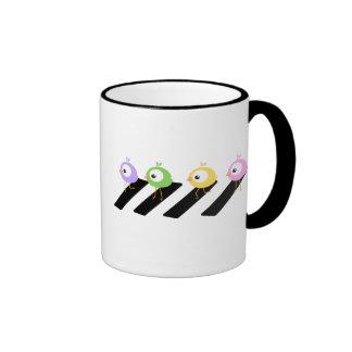 Cute Chick Crossing Beatles Abbey Road style mug