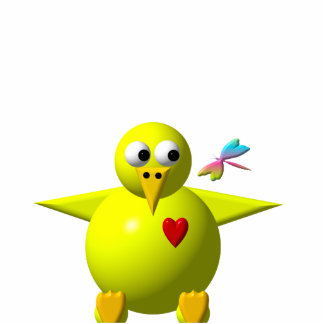 Cute chick cutout