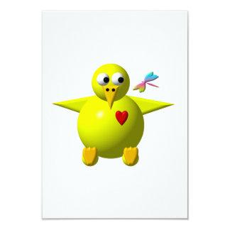 """Cute chick 3.5"""" x 5"""" invitation card"""