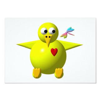 """Cute chick 5"""" x 7"""" invitation card"""