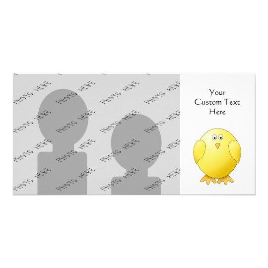 Cute Chick. Little Yellow Bird. Card