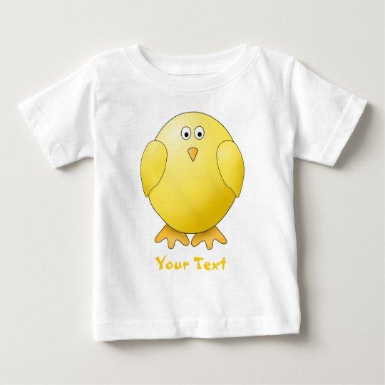 Cute Chick. Little Yellow Bird. Custom Text Baby T-Shirt