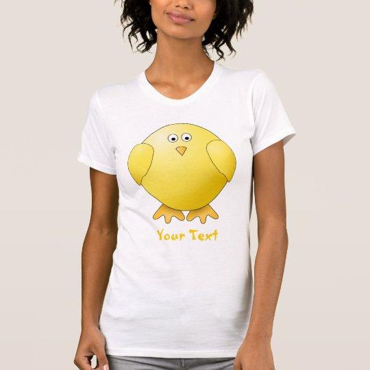 Cute Chick. Little Yellow Bird. Custom Text T-Shirt
