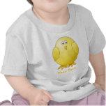 Cute Chick. Little Yellow Bird. Custom Text T-shirts